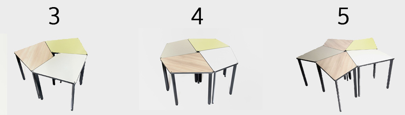 Gentil The 3.4.5. Modular Tables Adapt To All Learning Experiences By Encouraging  Strong Interactions Between Participants Or Groups Of Individuals
