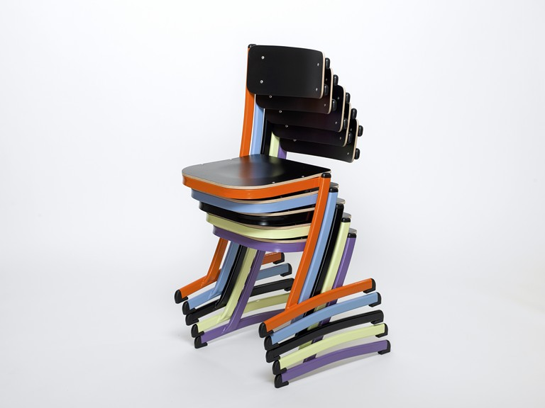 a stackable school chair