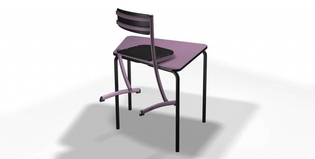 School chair with table rest system