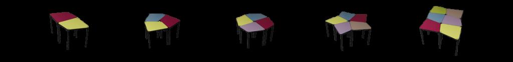 modular school table