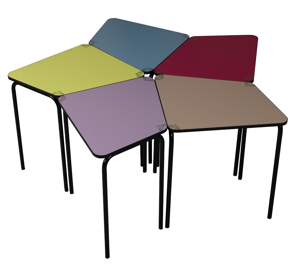 Tables et mobiliers 3.4.5 pour les travaux de groupes